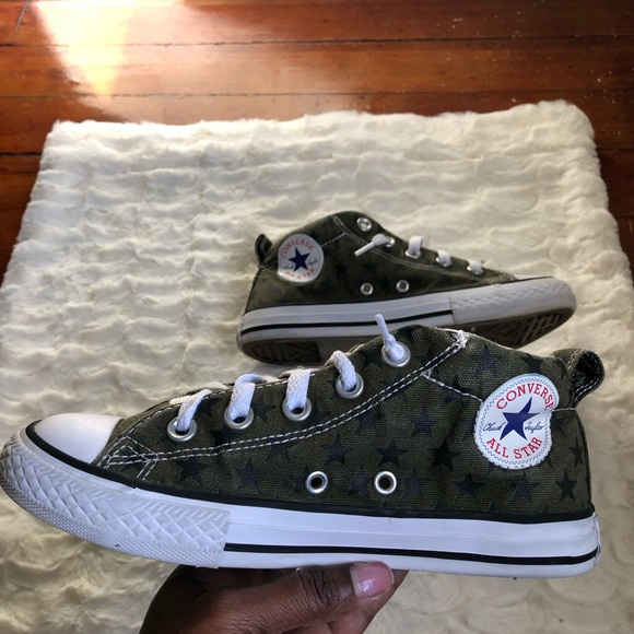e1ea68446b6afe Converse Other - Converse All Stars Army Green And Black Stars